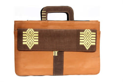 Rhombus Laptop Aso Oke Bag