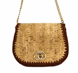 Jide Gear Shoulder Cork Crochet Bag Front