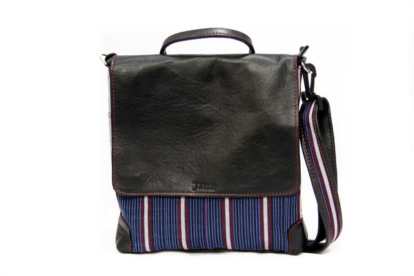 Jide Gear Silverbar Laptop Aso Oke Bag Front