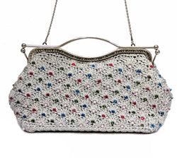 Jide Gear Silvershine Dinner Crochet Bag Front