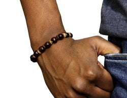 Jide Gear Small Brown Wood Bracelet