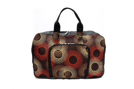 Jide Gear Swirl Laptop Ankara Bag Front