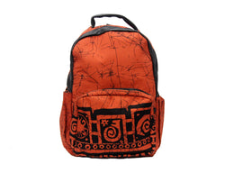 Jide-Gear-Tangerine-Batik-Backpack-Front