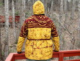 Jide Gear Teak Batik Men Winter Jacket Back Forest