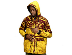 Jide Gear Teak Batik Men Winter Jacket Front