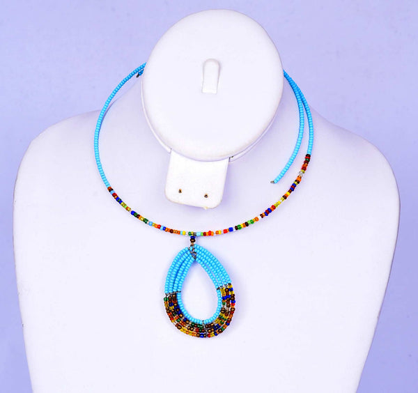Jide Gear Turquoise Multicolor Beaded Necklace