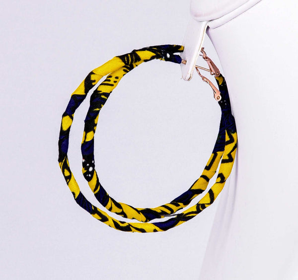 Jide Gear Yellowsplash Loop Ankara Earring