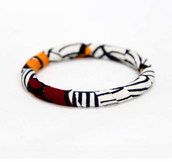 Jide Gear Zebra Slim Ankara Bangle