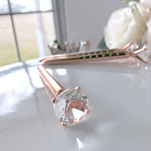 Beautiful Rose Gold and White Polka Dot Jewel Pen