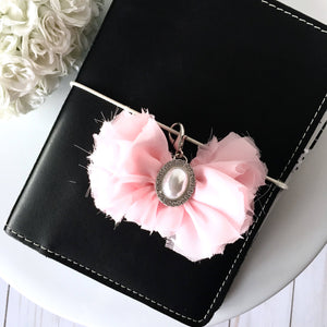 Delicate Shabby Chic Pink Chiffon Bow