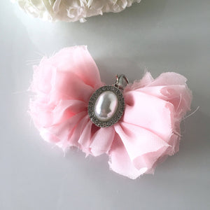 Delicate Shabby Chic Pink Chiffon Bow *CUSTOM*