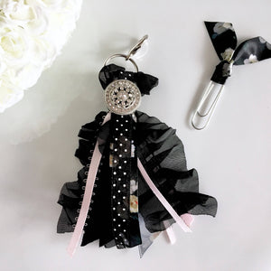 Black Chiffon and Satin Ribbon Tassel *RETIRED*