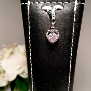 Super Sparkly CZ Heart Charm