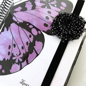 Shabby Chic Vintage Polka Dot and Black Planner Band