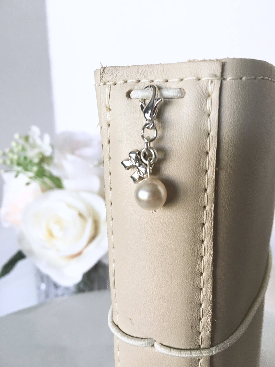 Timeless Swarovski Pearl and Vintage Bow Charm