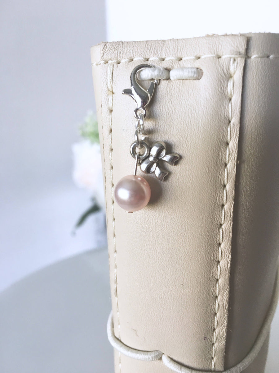 Timeless Swarovski Rosaline Pearl and Vintage Bow Charm