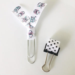 Pretty Page Clip and Pen Holder Set of 2