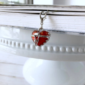 Gorgeous Heart Locket 2 in 1 Dangle Clip and Charm