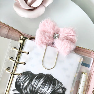 Luxe Faux Fur Bow