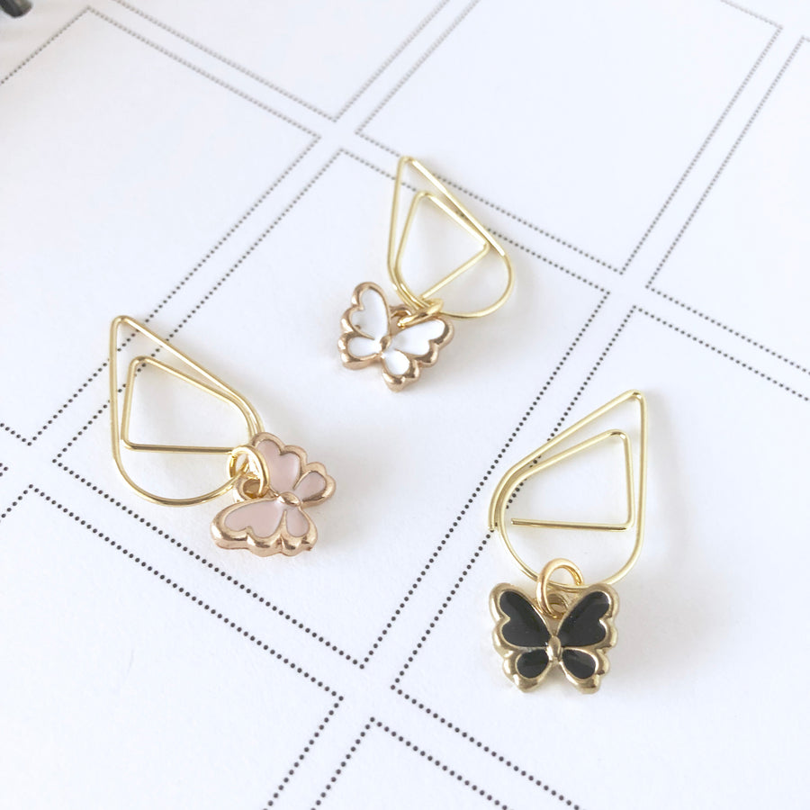 Pretty Gold Butterfly Dangle Charm