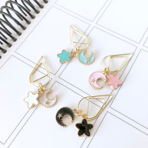 Moon & Stars Dangle Charms