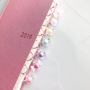 Strung Planner Bookmark with Charms