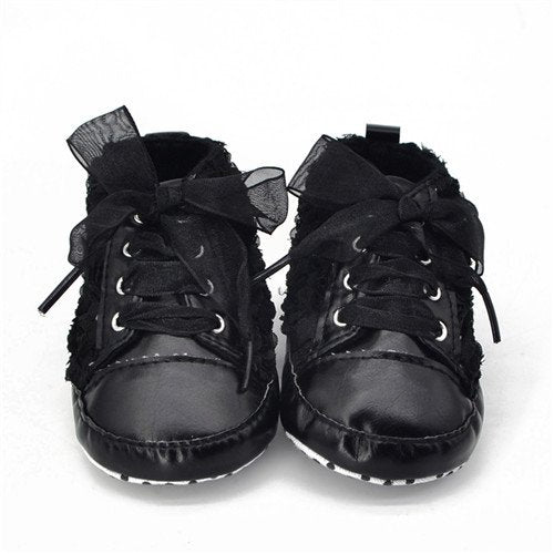 Baby Rose Flower Soft Sole Girl Designer Shoes - TheBabyShoppie