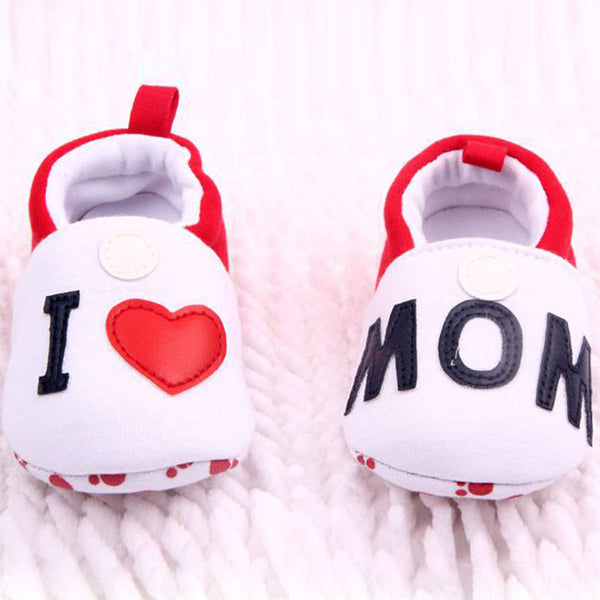 I Love Dad/Mom Anti-slip Soft Sole Baby Shoes - TheBabyShoppie