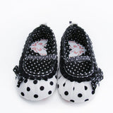 Polka Dot Flower Soft Bottom Shoes - TheBabyShoppie