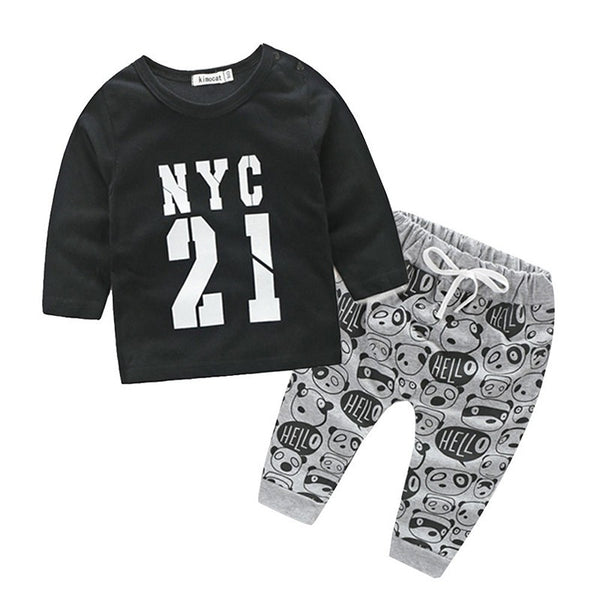 NYC 21 T-shirt Top + Pant for boys - TheBabyShoppie