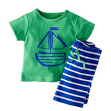 Nautical Outfit - T-Shirt+ Stripey Shorts - TheBabyShoppie