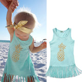 Pineapple Baby Girl Sleeveless Dress - TheBabyShoppie