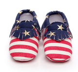 American Flag Baby Moccs - TheBabyShoppie