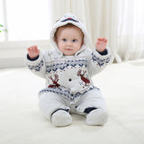 Warm Winter Reindeer Jumpsuit - TheBabyShoppie