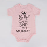 Daddy Keep Calm and Call Mommy Romper - TheBabyShoppie