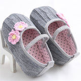 Knitted Floral Ballerina Shoes - TheBabyShoppie