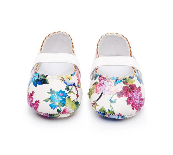 Summer Floral Mary Janes - TheBabyShoppie