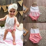 Summer Backless Tasselled Romper - 0-24 months - TheBabyShoppie