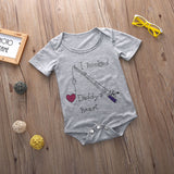I hooked my Daddy's heart Romper - TheBabyShoppie