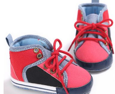 Denim Patchwork Walkers - TheBabyShoppie