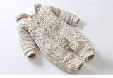 Knitted Hooded Jumpsuit - TheBabyShoppie