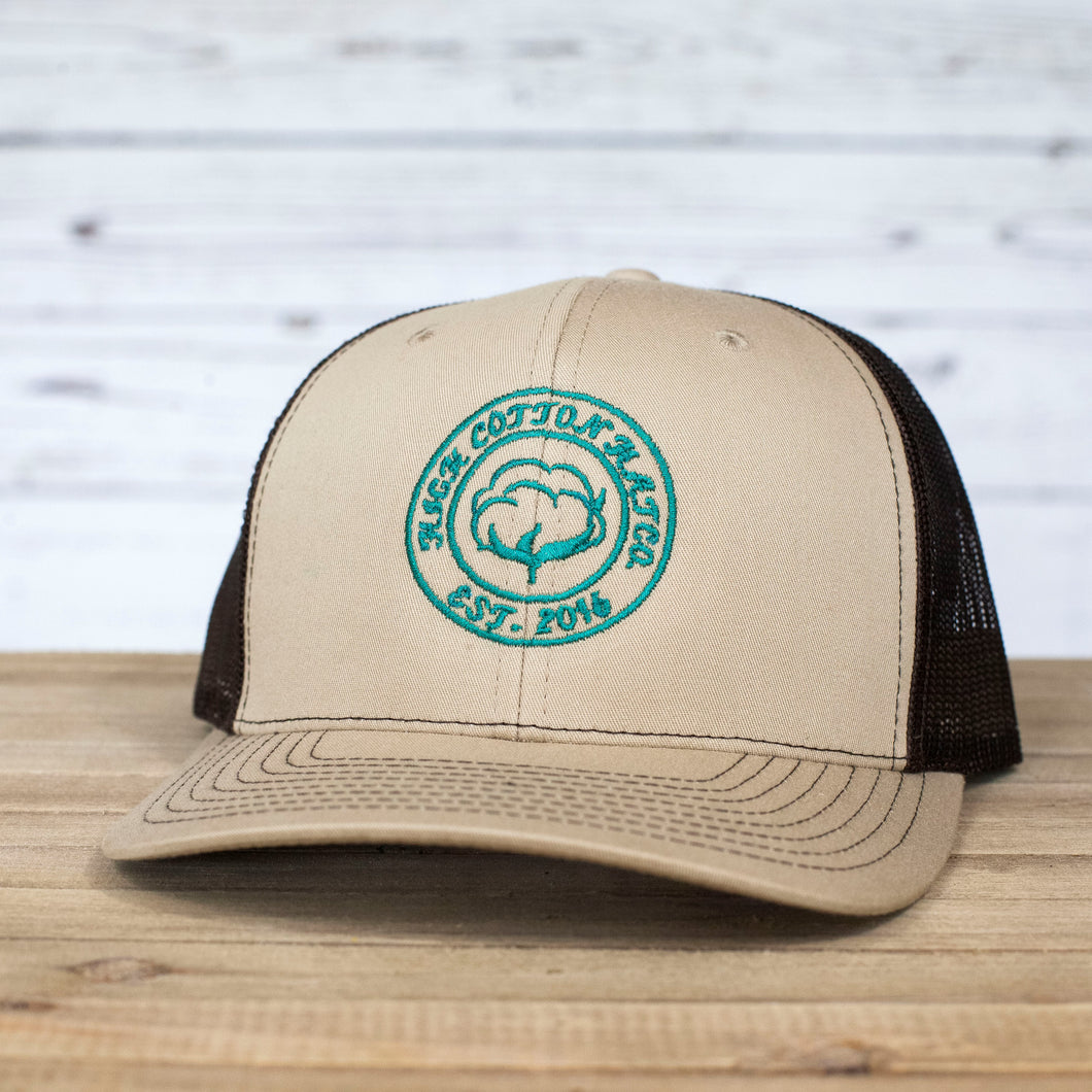 Cotton Circle Khaki/Coffee