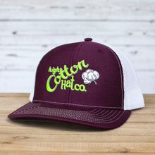 Cotton Gin Maroon/White