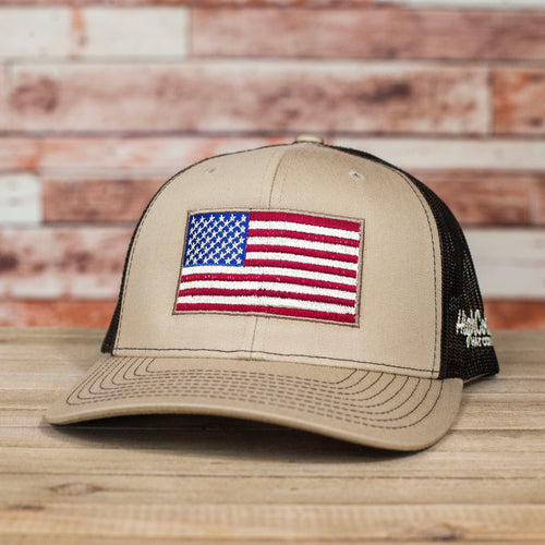 US Flag Khaki Coffee