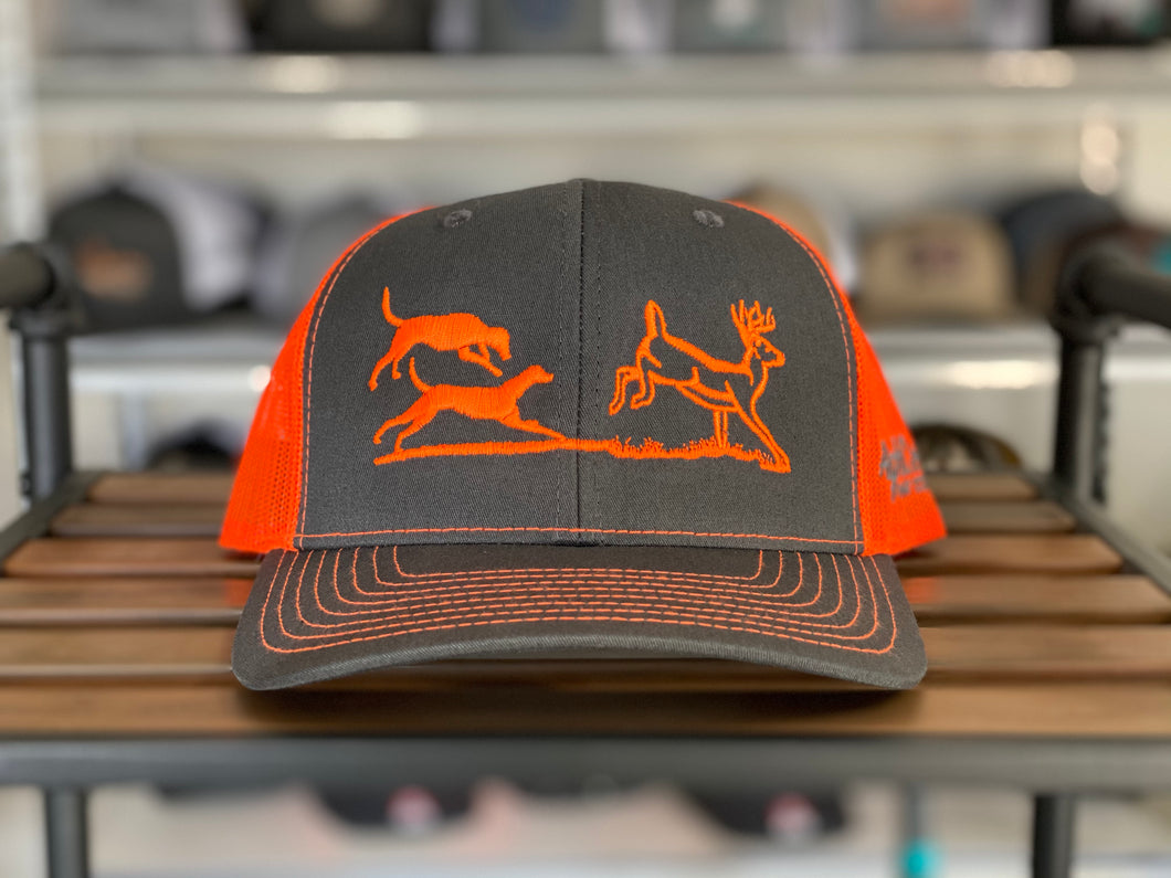 Deer Chase Neon Orange