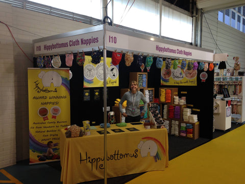 Hippybottomus Modern Cloth Nappies at the Pregnancy Baby and Childrens Expo - Australia