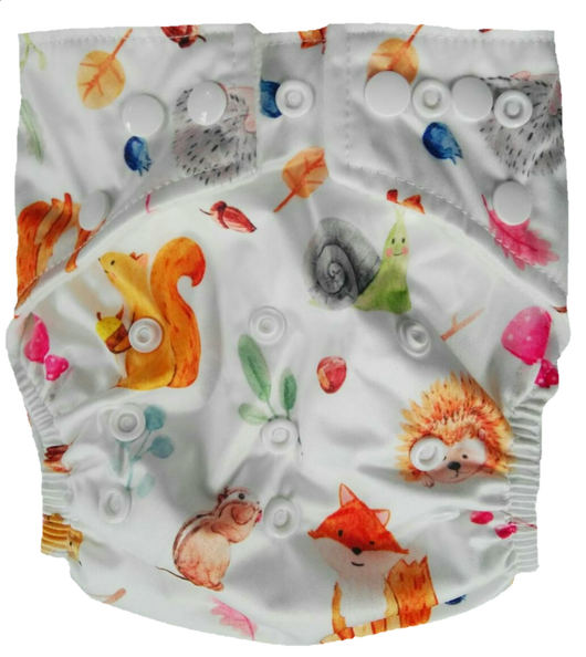 Hippybottomus Modern Cloth Nappy Australia - Forest Animals