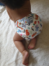 Stay Dry Bamboo Cloth Nappy - Summer Friends