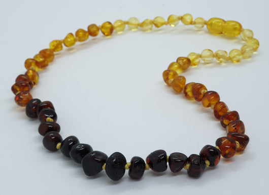 Rainbow Baroque Amber Necklace