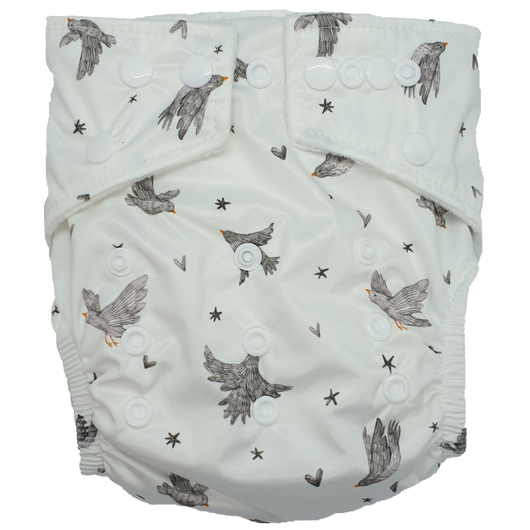Hippybottomus Stay Dry Bamboo Nappy - Birds
